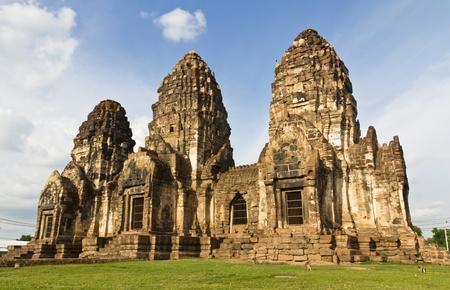 Wat Phra Prang Sam Yot temple in Lopburi,Thailand