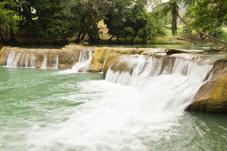 Jedsaownoi water fall in a national park,Saraburi Thailand Stock Photo - 10312898