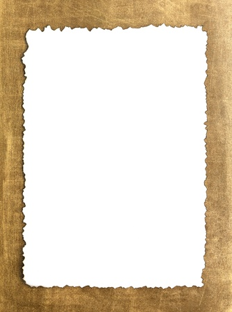 Vintage grunge burnt paper on brown background Stock Photo - 10814518
