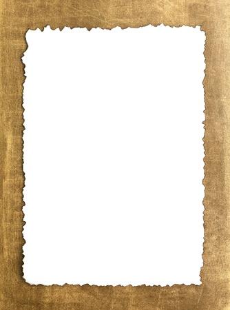 bordure de page: Vintage grunge papier br�l� sur fond brun