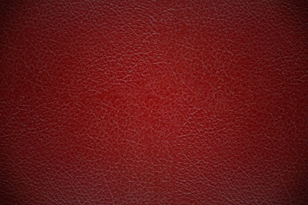 Red leather cover texture background photo