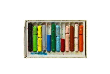 Old crayon photo
