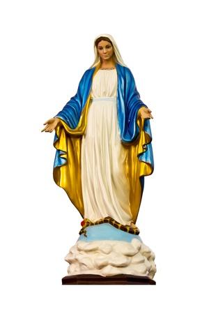 immaculate: Madonna o el Queen Mary aislar en blanco Foto de archivo