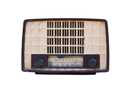 Oude radio geïsoleerd op een witte achtergrond. Stockfoto - 11076145
