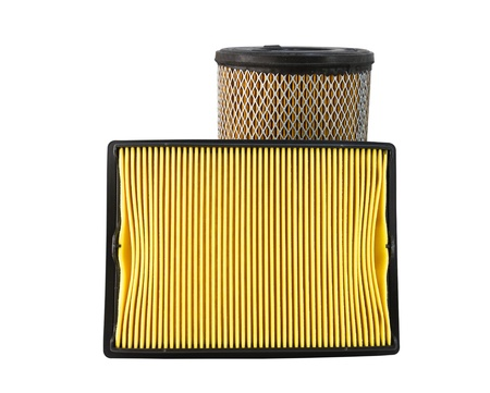 Close-up of a air filter isolated on white background Stock Photo - 11308844