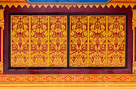 Traditional window in temple Thailand Stock Photo - 11308867