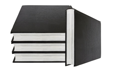 black book isolated on white background photo