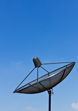 Satellite dish antennas under blue sky Stock Photo - 11552844