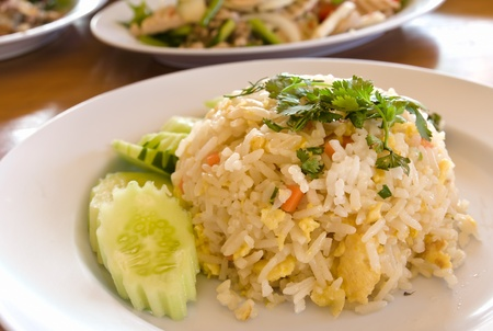 Close-up Thai food fried rice photo