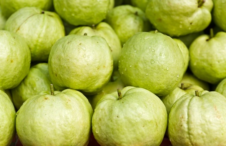 Fresh guava fruit in the market Stock Photo