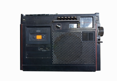 Old radio isolated Stock Photo - 12529821