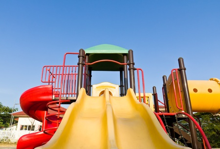 An image of a colorful children playground, without children Stock Photo - 12530895