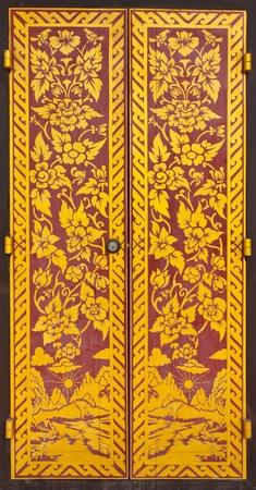 traditional thai door: Door thai french fries Stock Photo