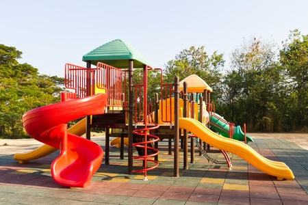 Modern children playground in park Stock Photo - 12531233