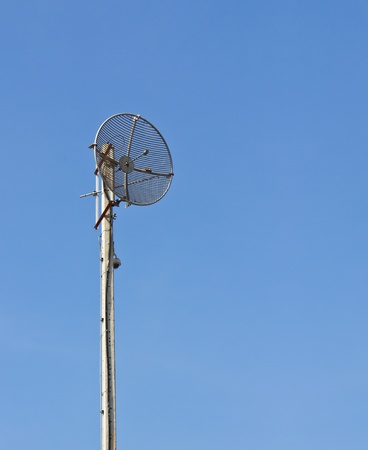 Radio communications tower and blue sky Stock Photo - 12531226