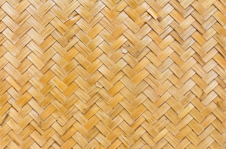 Pattern  of Thai style bamboo handcraft wallpaper photo