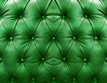 Green upholstery leather pattern background photo