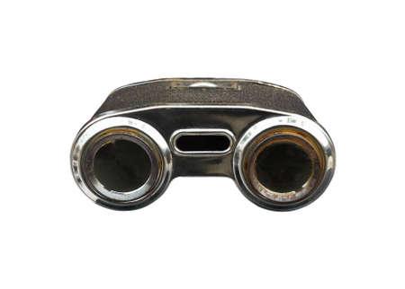 Old binoculars isolate on white background Stock Photo - 12811511