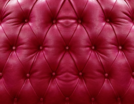 Red upholstery leather pattern background photo
