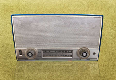 grundge: Vintage radio on grundge background