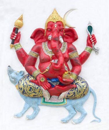 lord ganesha: Hindu ganesha God Named Maha Ganapati at temple in thailand Stock Photo