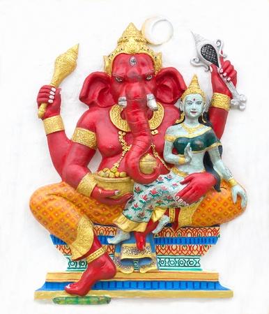 parvati: Hindu ganesha God Named Maha Ganapati at temple in thailand Stock Photo