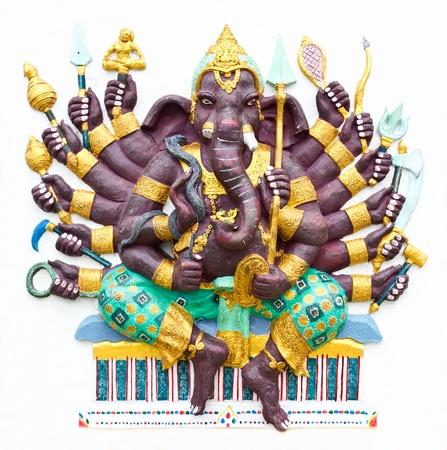 Hindu ganesha God Named Maha Ganapati at temple in thailand Stock Photo - 13362278