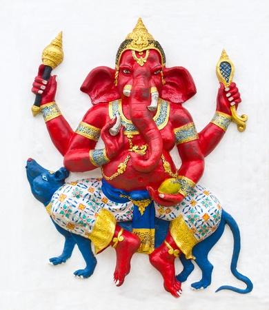Hindu ganesha God Named Maha Ganapati at temple in thailand Stock Photo - 13362268