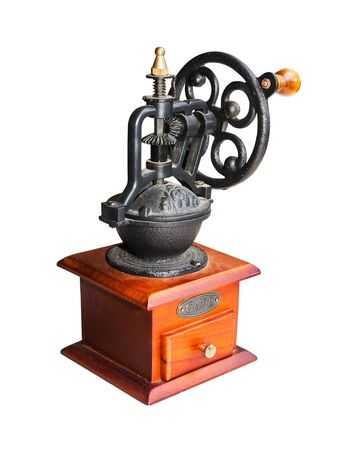 Vintage coffee grinder  isolate on white background photo