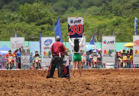 supercross: MUAKLEK, THAILAND - AUGUST 05: Unidentified riders participate in  competition Supercross Championship of Thailand, on August 05, 2012 in Muaklek, Saraburi,Thailand Editorial