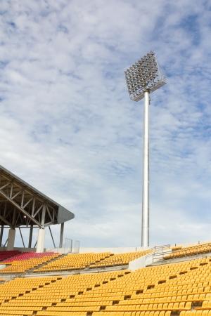 The Stadium Spot-light tower over Blue Sky Stock Photo - 15381114