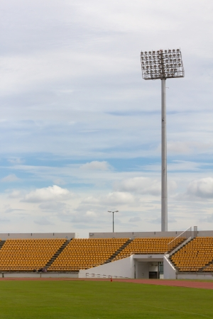 The Stadium Spot-light tower over Blue Sky Stock Photo - 15381108