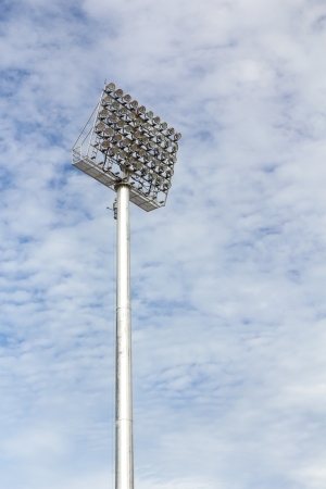 The Stadium Spot-light tower over Blue Sky Stock Photo - 15692139