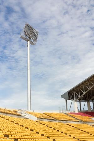 The Stadium Spot-light tower over Blue Sky Stock Photo - 15692137