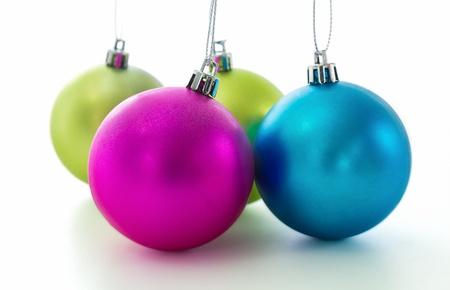 Set of Christmas balls on white background Stock Photo - 15718979