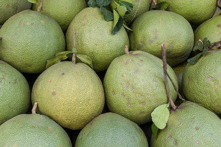 Pomelo or pummelo  For sele in market photo