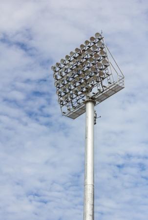 The Stadium Spot-light tower over Blue Sky Stock Photo - 15719000