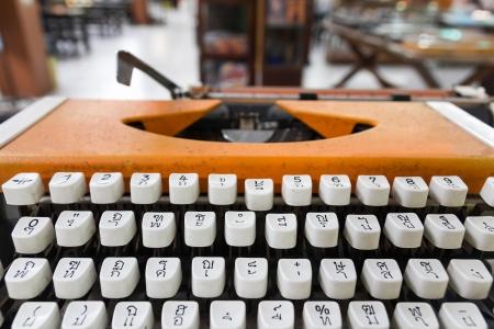 Language typewriter Thai font  In old office Stock Photo - 16027251