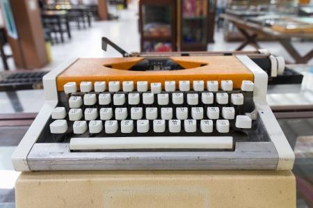 Language typewriter Thai font  In old office Stock Photo - 16027248