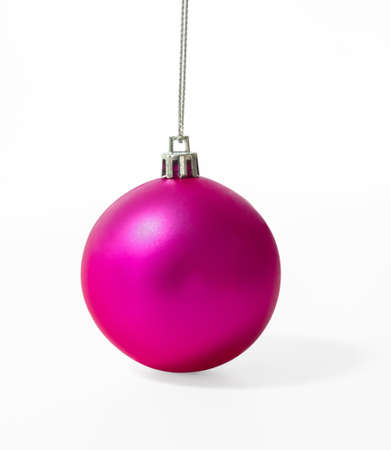 Pink Christmas ball isolate on white background Stock Photo - 16027245