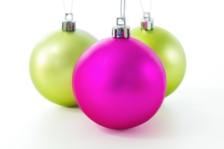 Set of Christmas balls on white background Stock Photo - 16027255