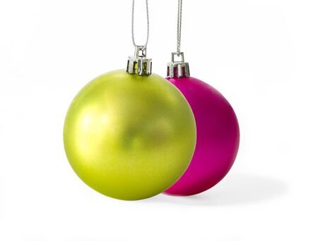 Set of Christmas balls on white background Stock Photo - 16231849