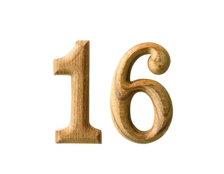 Beautiful wooden numeric with shadow on white background Stock Photo - 16724218