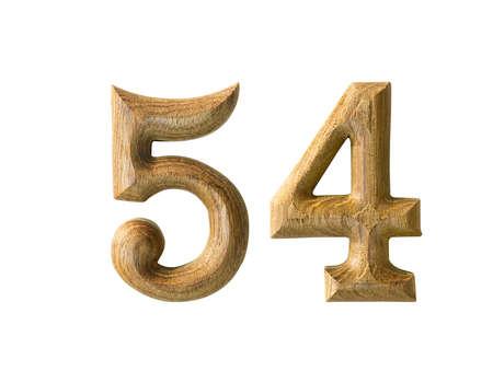 Beautiful wooden numeric isolated on white background Stock Photo - 16724252