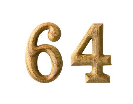 Beautiful wooden numeric isolated on white background Stock Photo - 16724351