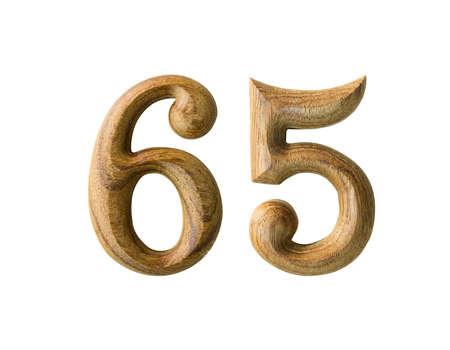 Beautiful wooden numeric isolated on white background Stock Photo - 16724362
