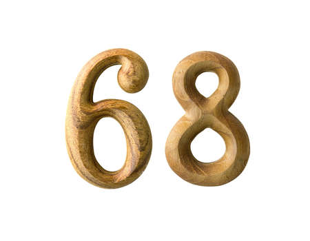 Beautiful wooden numeric isolated on white background Stock Photo - 16724261