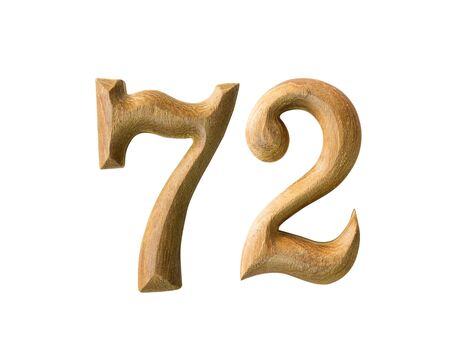 newcomer: Beautiful wooden numeric isolated on white background