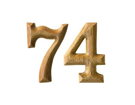yearly: Beautiful wooden numeric isolated on white background
