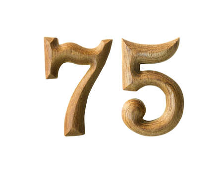 Beautiful wooden numeric isolated on white background Stock Photo - 16724214